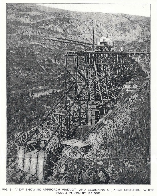 Building the Cantilever Bridge of the White Pass & Yukon Railway, 1901