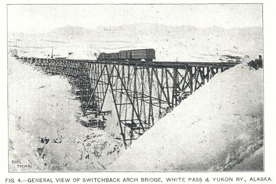 The Cantilever Bridge of the White Pass & Yukon Railway, 1901