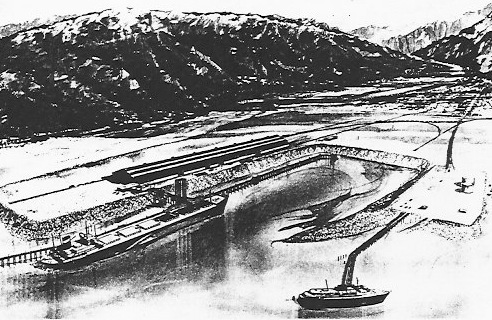 White Pass dock project, 1968