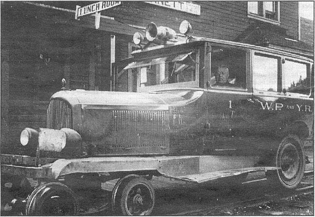 Photo of the rail vehicle used by the WP&YR Superintendent between 1933 and 1947
