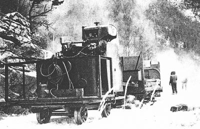Taylor's Inferno on the White Pass railway, 1963