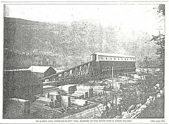 White Pass & Yukon Route railway coal plant, 1901