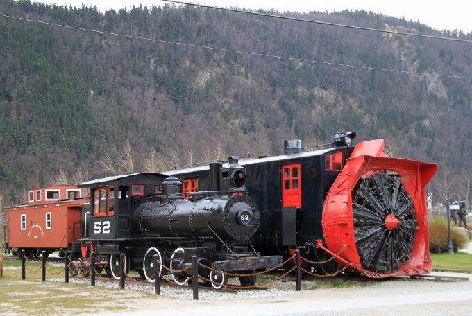 White Pass & Yukon Route steam locomotive #52 at Skagway, Alaska