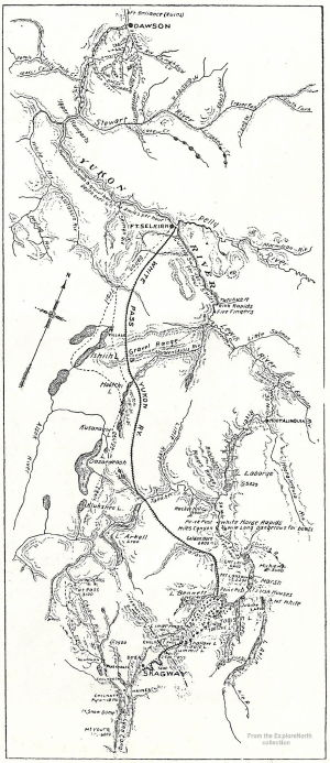 Map of the White Pass & Yukon Route railway, 1898
